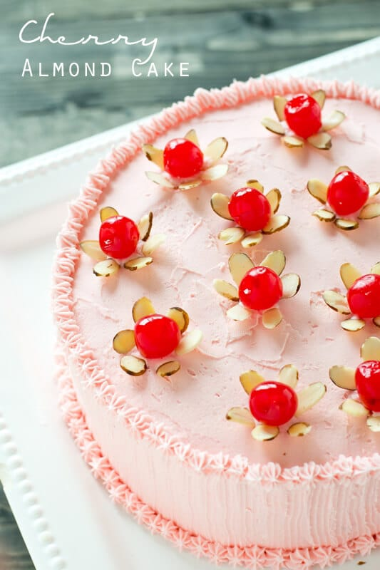 Cherry Almond Cake Easy Homemade Layer Cake With Simple