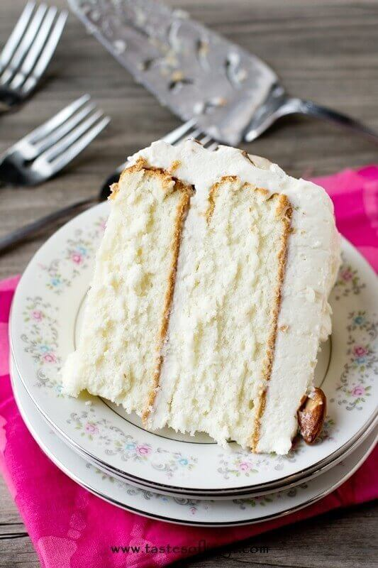 best wedding cake mix recipe almond cake cake with frosting 11495
