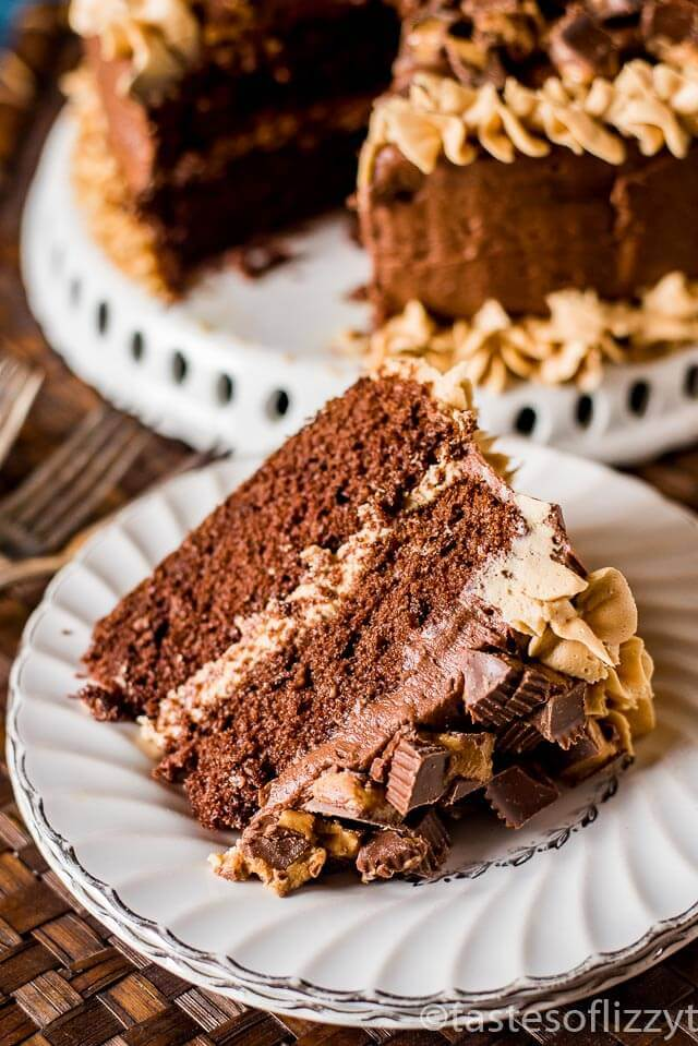 Chocolate Peanut Butter Reese's Cake {100% From Scratch ...