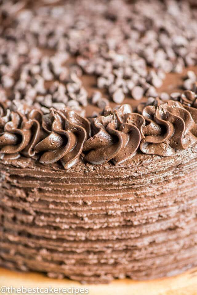 Dark Chocolate Cake Recipe Homemade Cake Chocolate Buttercream