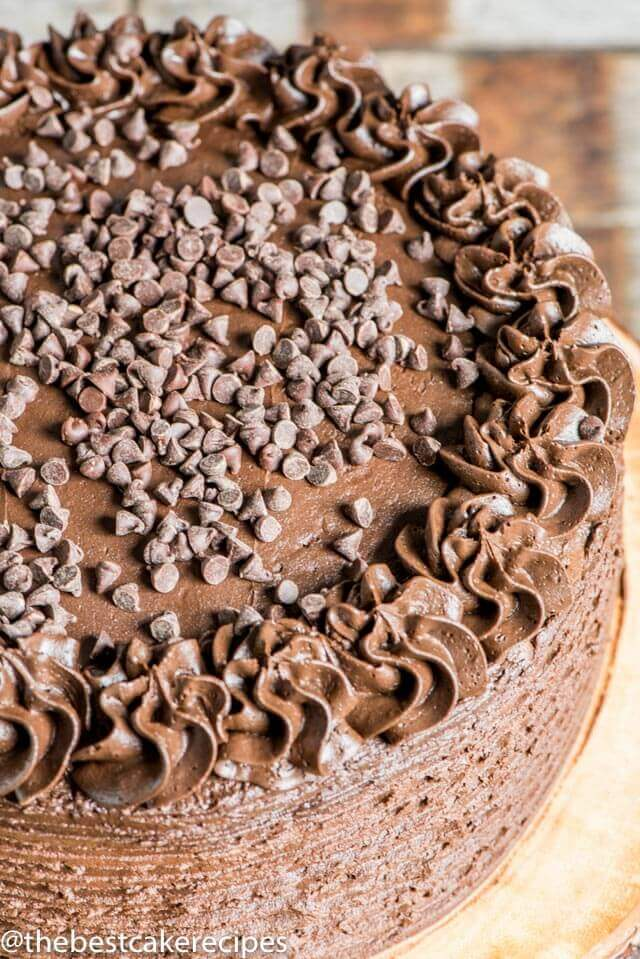 If you are a fan of dark chocolate, you'll love this dark chocolate cake recipe. The ultimate moist chocolate cake with a dark chocolate infused buttercream frosting.