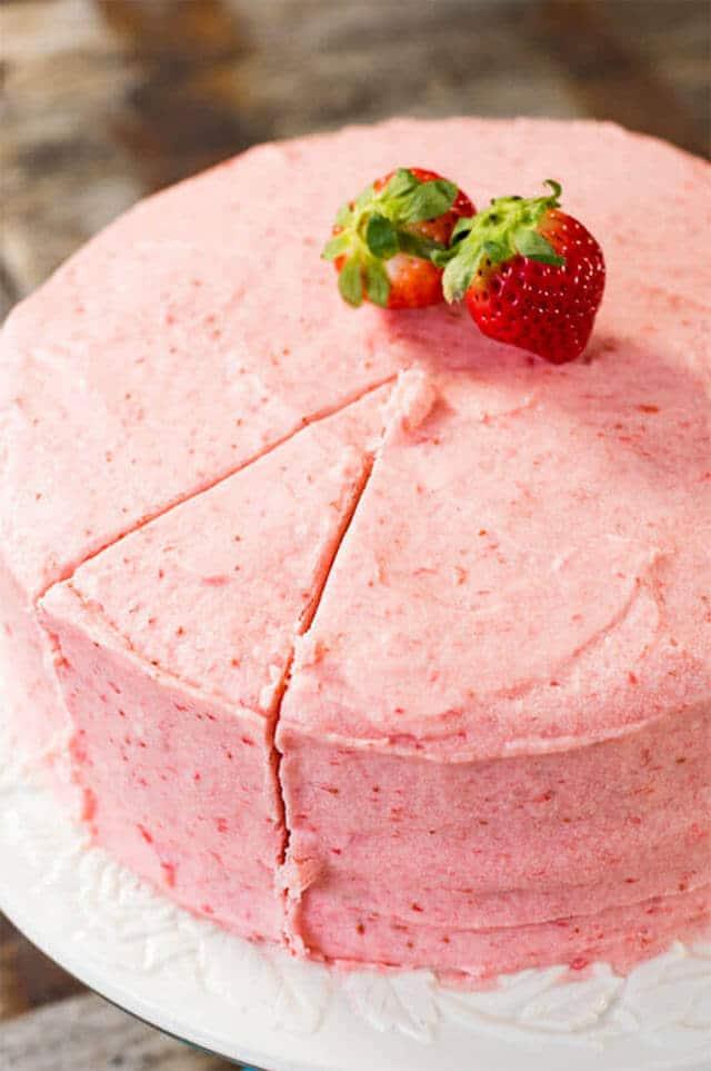 Chocolate Cake With Strawberry Puree