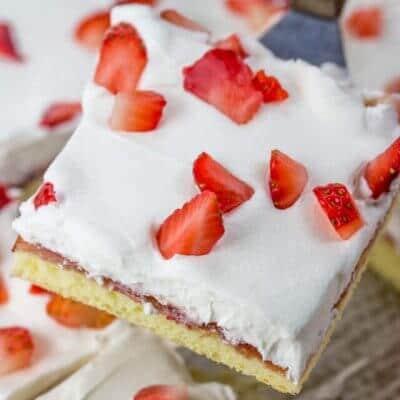 Strawberry Chiffon Sheet Cake
