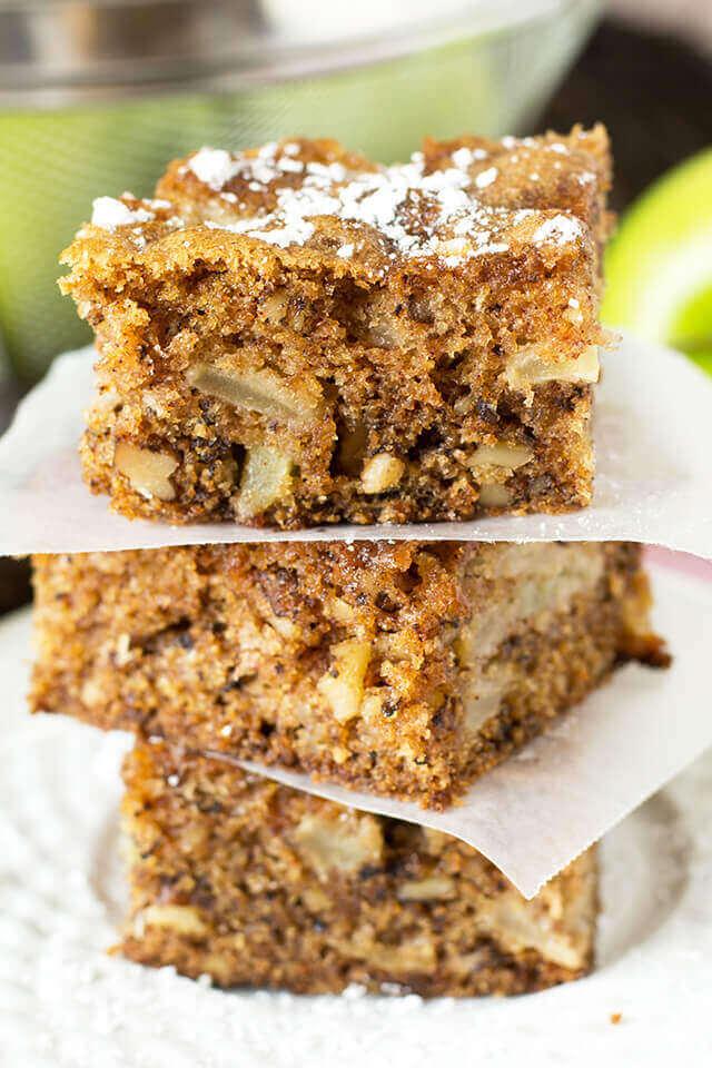 Fresh Apple And Walnut Cake Recipe