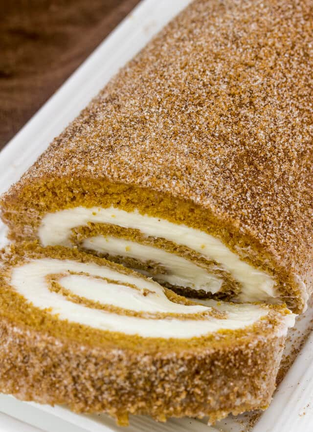Cinnamon Sugar Pumpkin Roll