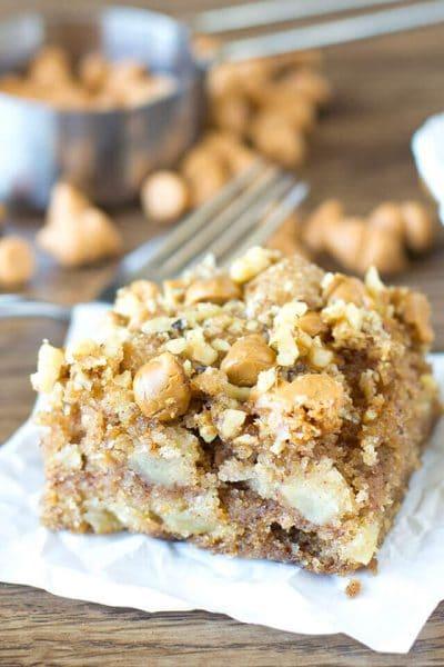 Apple Butterscotch Snack Cake