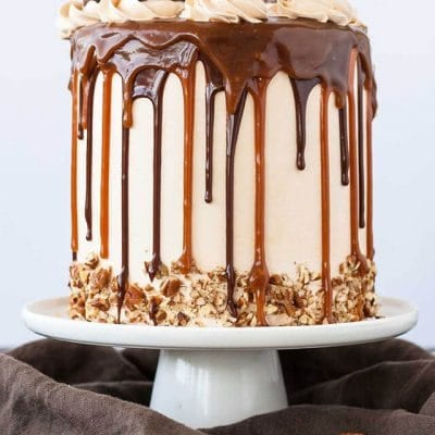 Chocolate Turtle Layer Cake