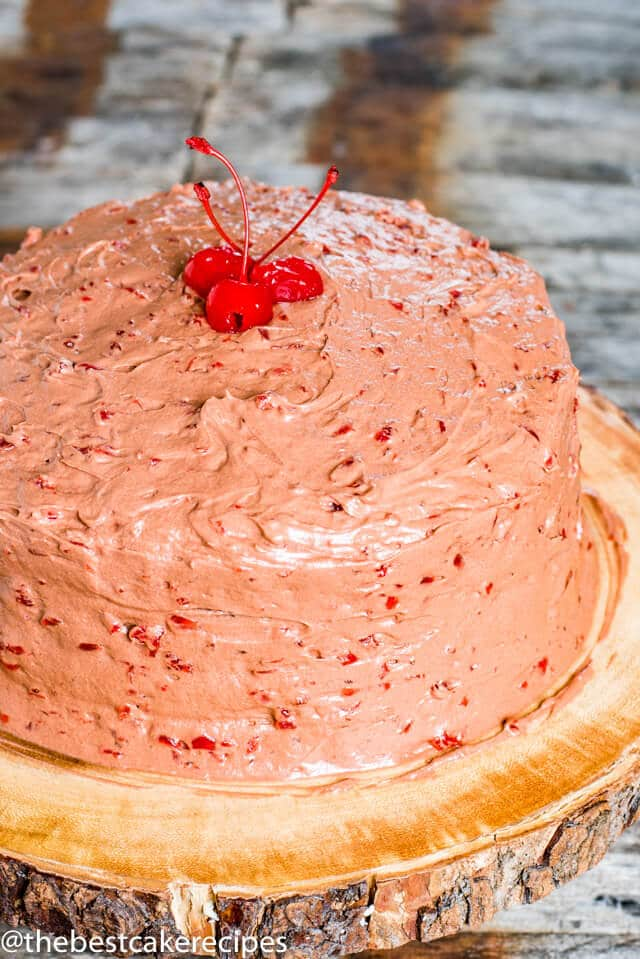 chocolate cherry homemade cake recipe