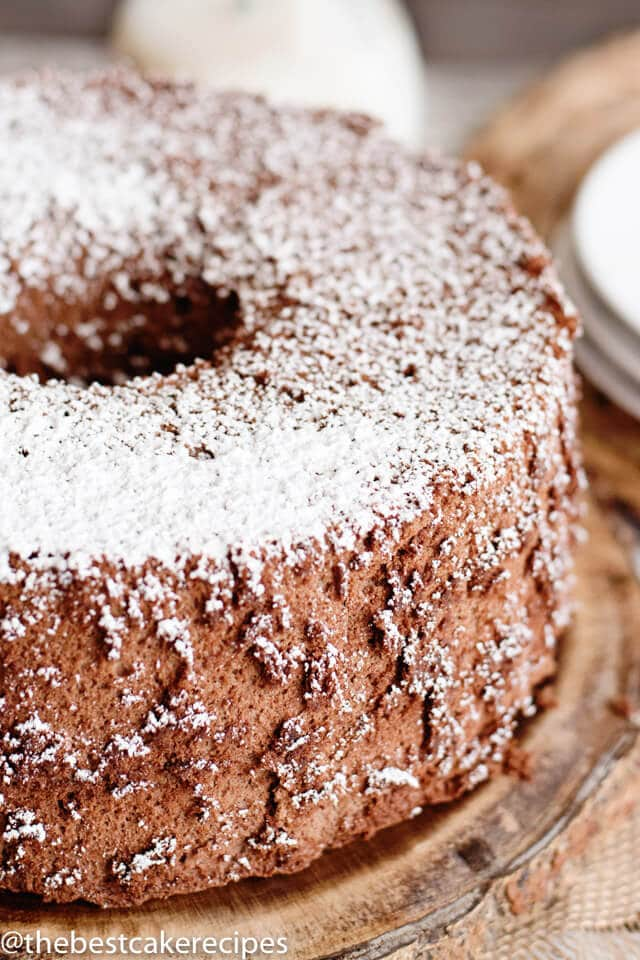 Chocolate angel food cake recipe easy low fat dessert looking for more angel food cake recipes forumfinder Images