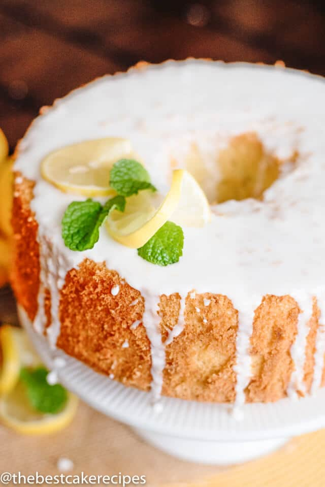 Lemon Chiffon Cake Recipe Easy Homemade Cake With Lemon