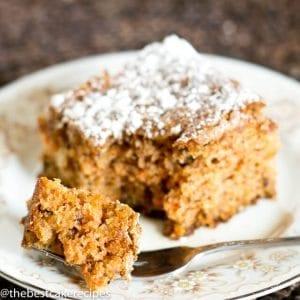 Carrot Walnut Cake Recipe Easy Small Homemade Carrot Cake