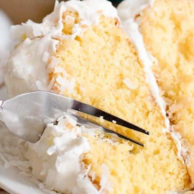 Coconut Pineapple Upside Down Cake