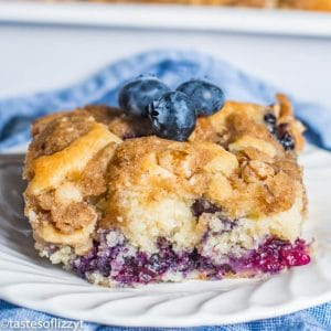 {Homemade Buttermilk Blueberry Cake}
