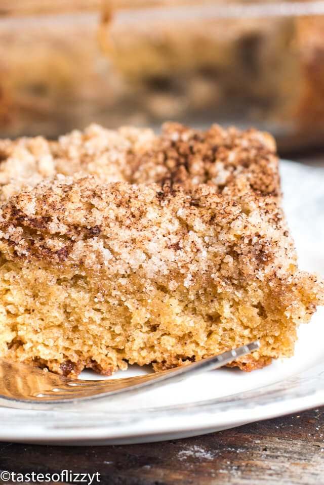 Easy Buttermilk Cinnamon Streusel Coffee Cake