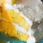 Mandarin Orange Cake Recipe with Pineapple Whipped Frosting