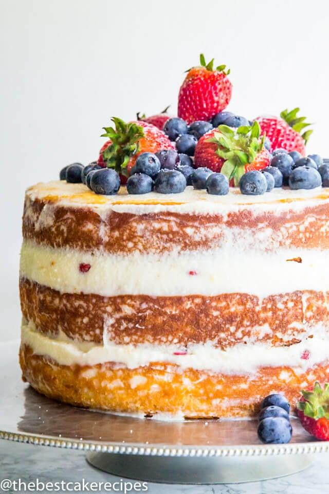 Berry Mascarpone Layer Cake Recipe
