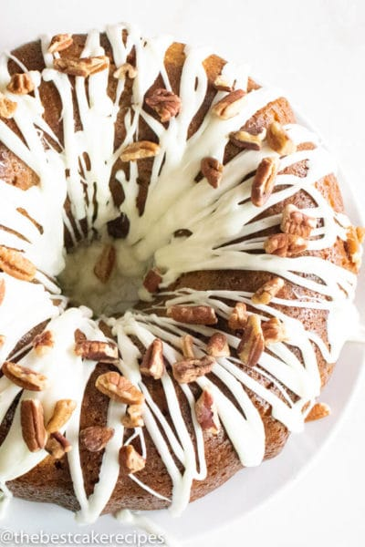 easy hummingbird cake with glaze