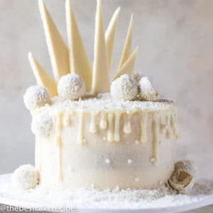 Three layer beautiful white peppermint cake