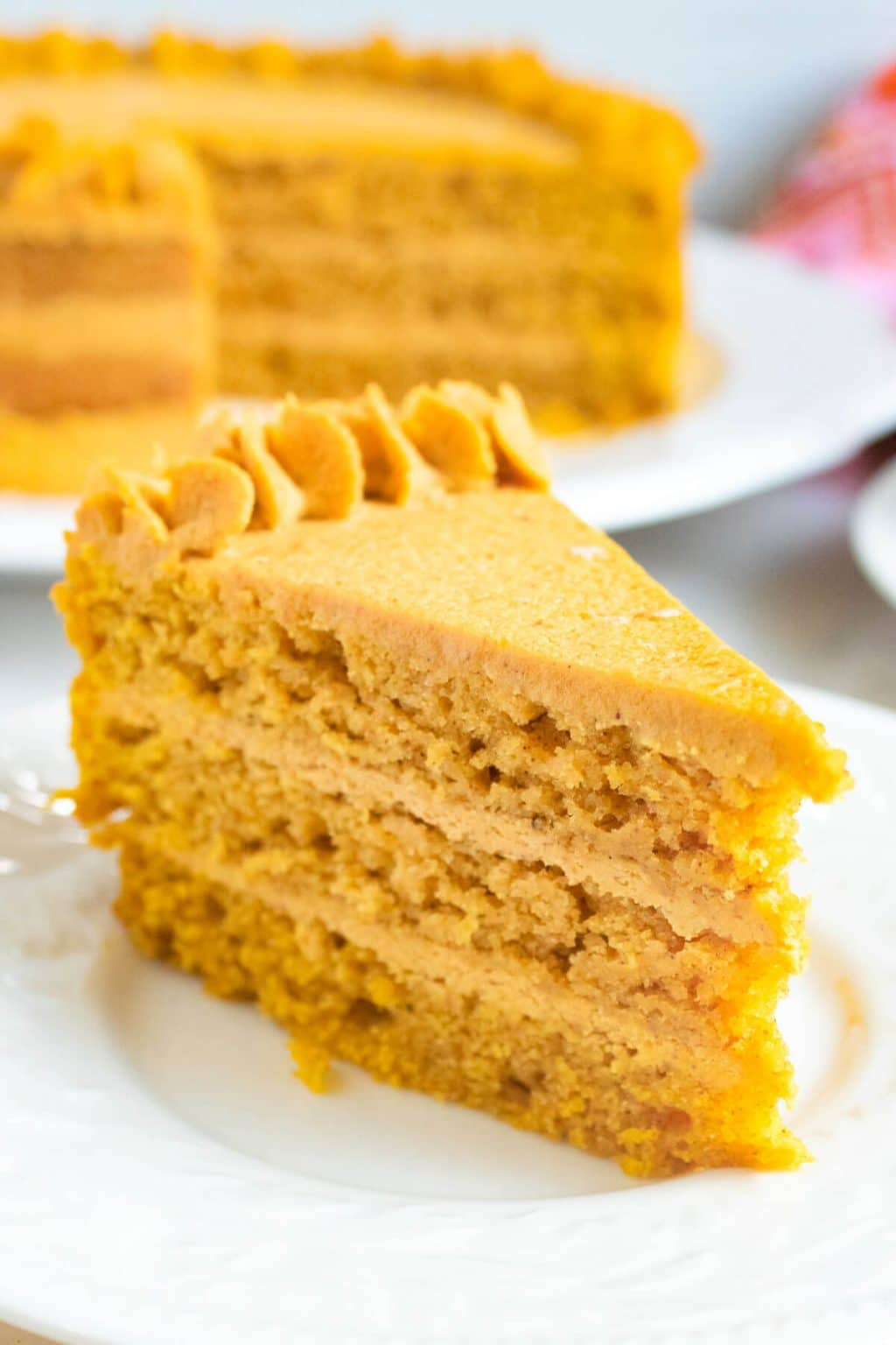 Pumpkin Cake with Pumpkin Ganache